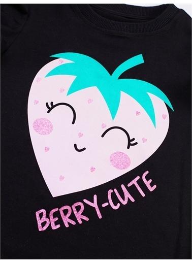 Denokids Berry Cute Kız Şort Takım Renkli